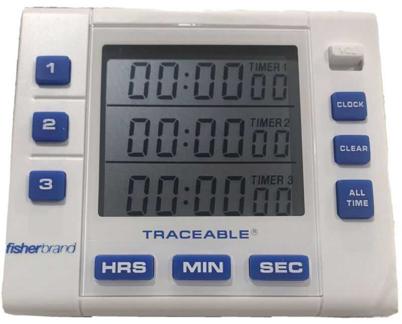 Fisher Scientific ISO 17025 TRACEABLE   3 Channel  Alarm  Timer  - NEW 5000-1912