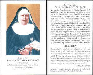 HOLY-CARD-SANTINO-IMAGE-PIEUSE-Suor-M-MADDALENA-STARACE-serva-di-Dio