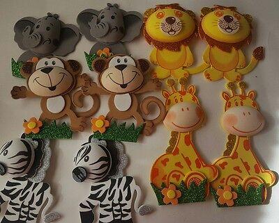 10pcs Baby Shower Safari/jungle Animals Decoration Girl/Boy](Safari Decor)