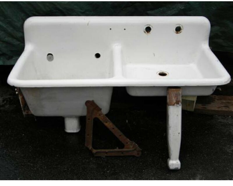 Antique Vintage Double Sink
