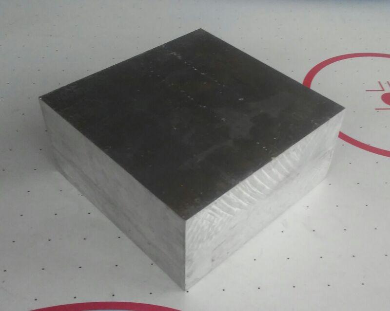 "2"" X 4"" X 4"" long new 6061 T6511 solid aluminum stock plate flat bar cnc block"