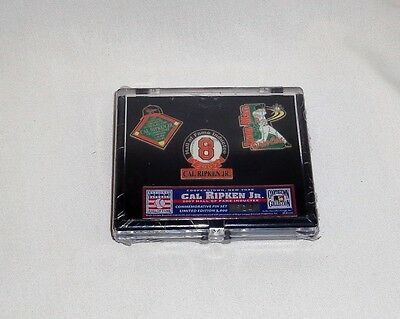 Ripken Jr Hall Of Fame - Baltimore Orioles Cal Ripken Jr Cooperstown 2007 Hall of Fame Inductee Pin Set
