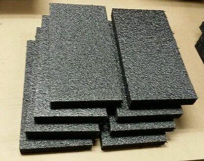 8 Sheets - 6 X 12 X 1 Black Polyethylene Plank Foam 1.7pcf Pe Free Shipping