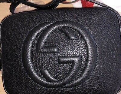 211504336 GUCCI Black Leather Soho Disco Bag Includes Dustbag