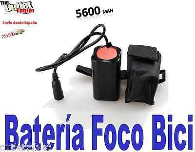 Batería recargable para foco bici con 5600mAh 4x18650 Para la luz para...