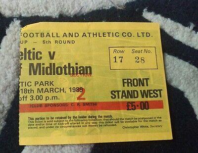 celtic v hearts match ticket.