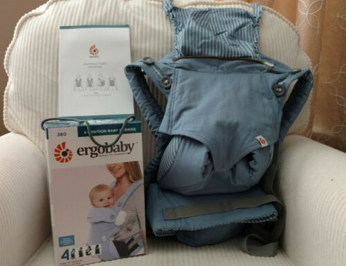 Купить ErgoBaby - New with Box Ergo 360 4 Position Baby Carrier in Azure Blue