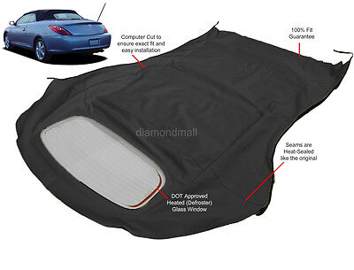 Fits: Toyota Camry Solara Convertible Top & Glass Window 2004-2009 Black (2008 Toyota Solara Convertible)