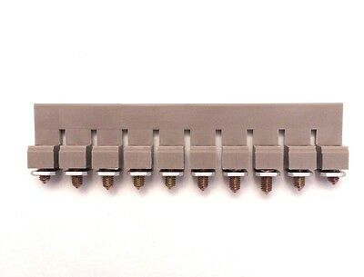 Din Rail Terminal Block Jumpers 3 Quantity Ds6-10p Dinkle 8 Awg 10 Pole Dk6 Ul