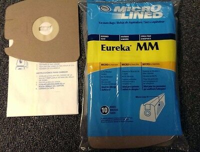 10 EUREKA MIGHTY MIGHT Style MM Anti Bacterial Micro Lined Vacuum Cleaner Bags