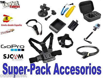 Super pack accesorios Vídeo Cámara EKEN H9s Deportiva sumergible