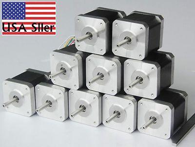 Lot Nema 17 Stepper Motor Bipolar 83.6oz.in40ncm Cnc3d Printer Reprap Robot E
