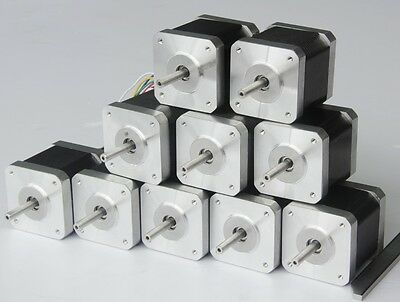Us Free Ship10pc Nema17 Longs Stepper Motor 4800g.cm 4leads 2.5a 3d Printer