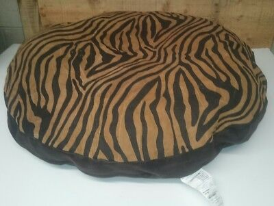 "Ashford Court Leather Patch 36"" round Dog Bed Cover Only Zebra Print"