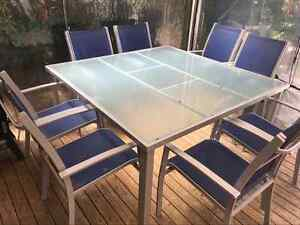 OUTDOOR 9 PIECE TABLE AND CHAIRS NEEDS TO GO Ashfield Ashfield Area Preview