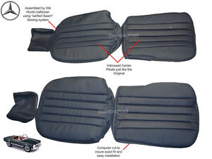 Mercedes w113 pagoda 230sl 250sl 280sl leather replacement for Mercedes benz replacement seat covers