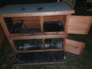 Large double storey guinea pig hutch great condition.