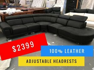 PEARL LEATHER CORNER LOUNGE - FURNITURE OUTLET - SPECIAL OFFER Granville Parramatta Area Preview