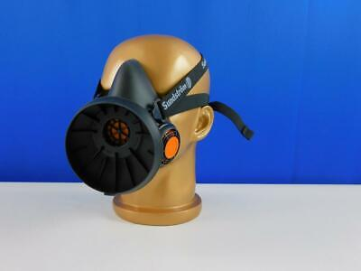 Sundström H01-2812 SR100 Silikon Maske Halbmaske Atemschutzmaske schwarz