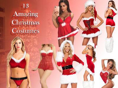 Sexy Santa Claus Christmas Costume Lingerie Women Uniform Hoodies Cosplay Dress - Santa Woman Costume