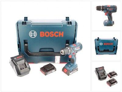 Bosch GSR 18-2-Li Plus Professional Akku Bohrschrauber + 2x Akku, Lader, L-Boxx
