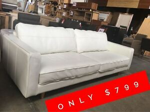 VALEN 3 SEATER LEATHER SOFA Granville Parramatta Area Preview