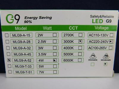 LE G9 LED Lampen 5W 340 Lumen Leuchtmittel ersetzt 50W Halogenlampen 3000...