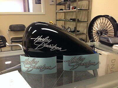 2 Harley Gas Tank Decals Part 13765-00 Dyna 2000 LowRider Convertible FXDS FXDL
