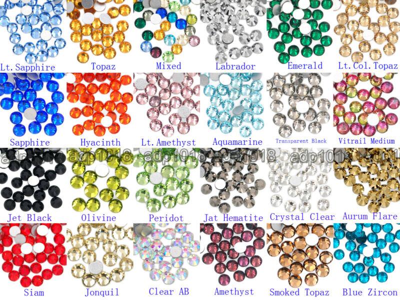 1440pcs Top Quality Crystal Flatback No-Hotfix Rhinestones for Nail Art Phone