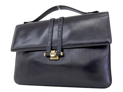 GUCCI Interlocking Vintage Clutch Bag Second Black Black