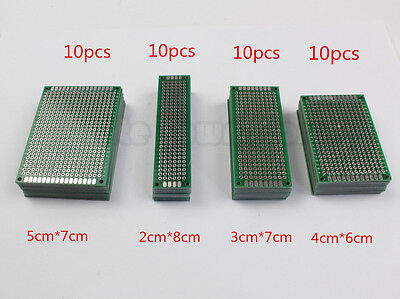 40 pcs Double-side Protoboard Circuit Prototype DIY PCB Board 5x7 4x6 3x7 2x8cm