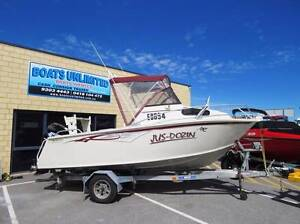 REBEL 530 SPORTS CUDDY OPEN DECK GREAT FIRST FISHING RIG Wangara Wanneroo Area Preview
