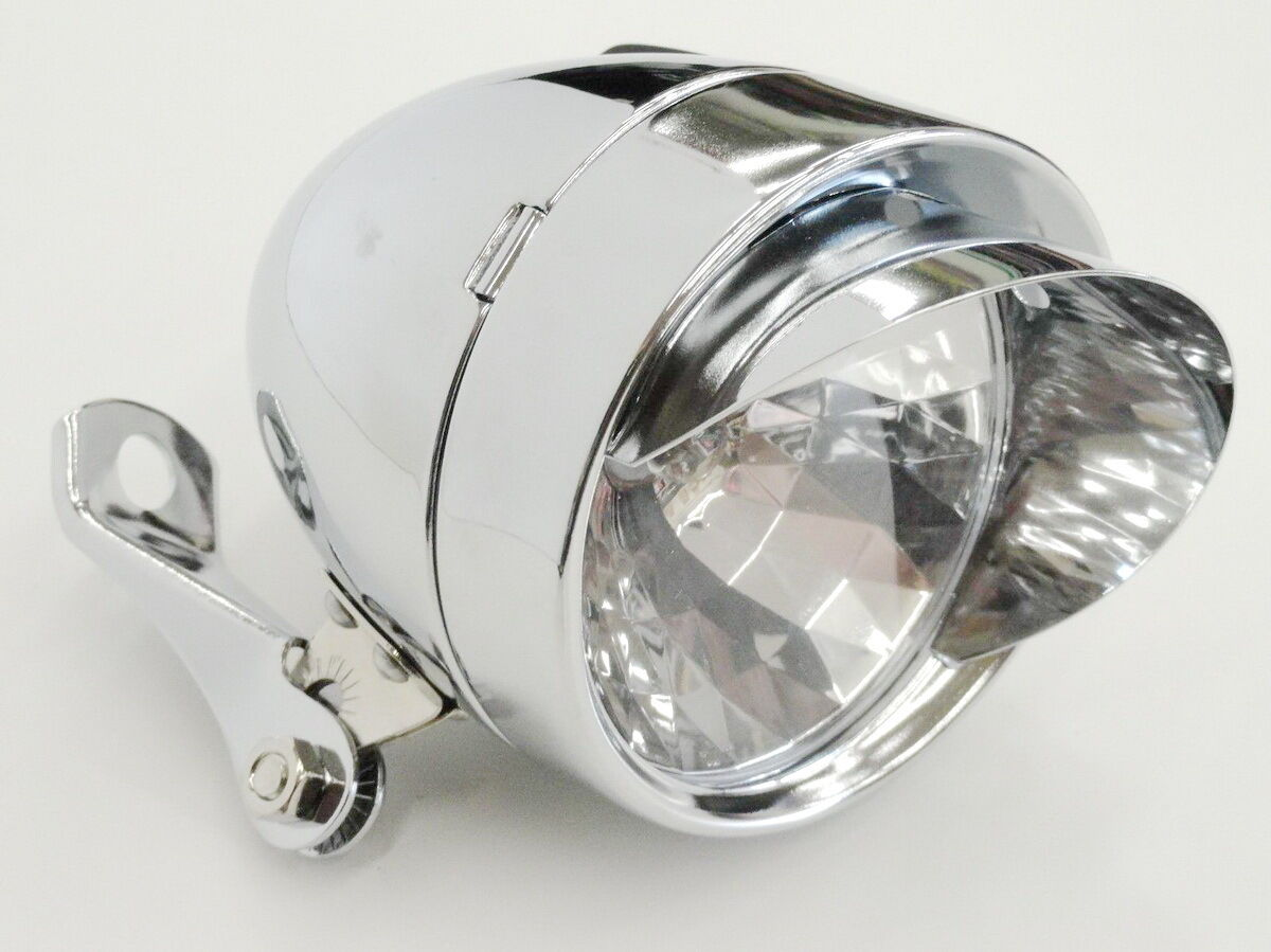 New Silver Classic Vintage Style Bullet Bicycle Light CP Cru