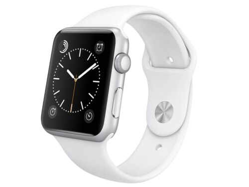 Apple Apple Watch Sport 42mm Silver Aluminum Case White Sports Band MJ3N2LL/A