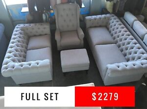 CHESTERFIELD SOFA SET - FURNITURE OUTLET - SPECIAL OFFER Granville Parramatta Area Preview