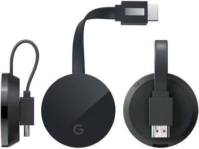 Google Chromecast Ultra 4k UHD HDR Video Streaming WLAN HDMI Wifi Mirroring