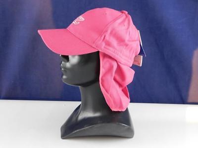 Zunblock Damen UV Schutz Sonnenhut Kappe Cappy Nackenschutz Rosa 54-58 cm
