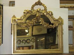 Miroir avec fronton poque 19 me si cle ebay for Miroir 19eme siecle