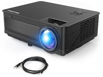 "Excelvan M5 Home Theater 120"" HD LED Projector Video FHD 1080P HDMI VGA AV USB"