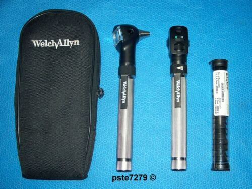 """Welch Allyn 92821 """"AA"""" Handle Pocketscope Otoscope Ophthalmoscope Diagnostic Set"""