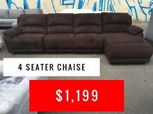 4 SEATER CHAISE FABRIC - FACTORY SECONDS OUTLET Granville Parramatta Area Preview