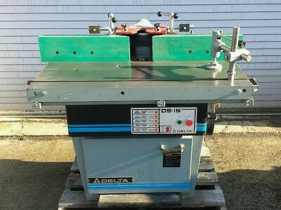 Delta Invicta Ds-15 Sliding Table Shaper Moulder With Micro Fence 1 Spindle