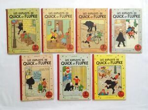 Lot-BD-Quick-et-Flupke-1-2-3-4-5-6-7-EO-COULEUR-1-RE-HERGE-CASTERMAN