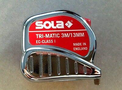 Sola Rollbandmaß Bandmaß Tri-Matic TM 3m/13mm