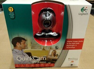 Lot X6 QC-PRO5000 Logitech QuickCam Pro 5000 USB 2.0 WebCam NEW Free Shipping