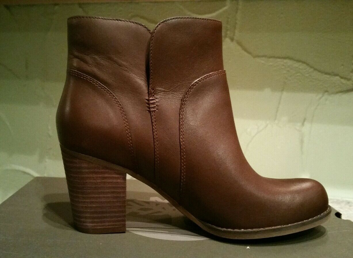 TIMBERLAND WOMEN'S RUDSTON ANKLE FULL GRAIN LEATHER  DARK BROWN BOOTS SIZE 7.5 1