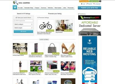 Classifieds Website For Sale - Free Install Hosting With Ssl