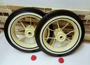 2 Radio Flyer Wheels Replacement Rear Trike  Kit Tricycle Model 33 34 Tire Spoke