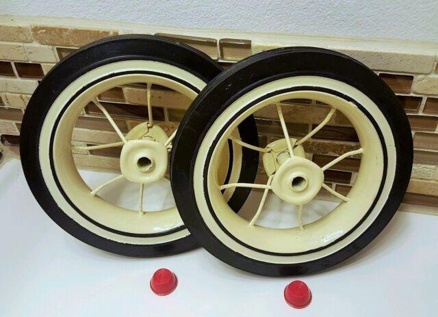 2 radio flyer wheels replacement rear trike kit tricycle model 33 34 tire spoke ebay. Black Bedroom Furniture Sets. Home Design Ideas