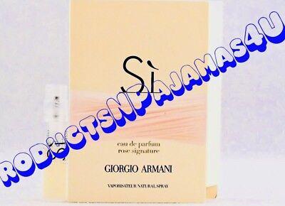 Giorgio Armani SI ROSE SIGNATURE Eau de Parfum .04fl.oz/1.2ml CARDED SAMPLE